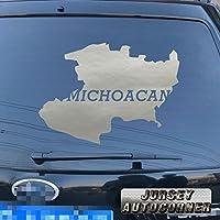 3s MOTORLINE Michoacanマップデカールステッカー車ビニールアウトラインmich Mexico State Morelia Mexican pickサイズカラー 16'' (40.6cm) ブラック 20180402s15