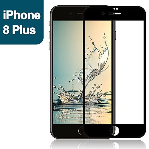 FEISINUO iPhone 8 plusフィルム 炭素繊維 全面保護iPhone8 plus/iPhone7 plus液晶保護フィルム(ブラック)