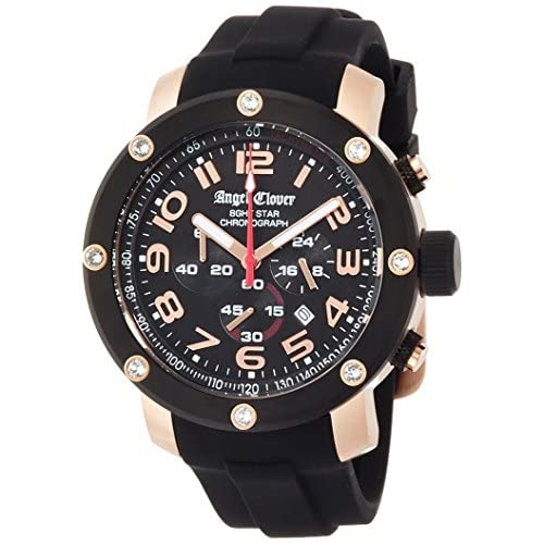 [エンジェルクローバー]Angel Clover 腕時計 エイトスター ブラック文字盤  ステンレス(PGPVD) クロノグラフ NES46PBK-BK メンズ