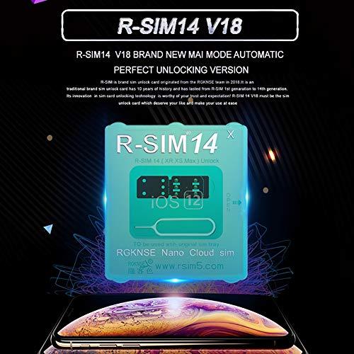 Esolom R-SIMロック解除カードアダプター For iPhone XS Max/XR/X / 8/7/6 IOS 13/12の場合 RSIM 14 V18.6 スマートフォンアクセサリー グローバル