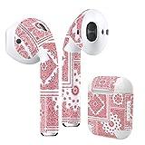 Air Pods 専用 デザインスキンシール airpods エアポッド apple アップル イヤフォン イヤホン カバー デコレーション アクセサリー エアフリー デコシール ペイズリー 模様 赤 011785