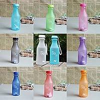全8色 壊れない プラスチック ウォーターボトル ソーダボトル 溢れない 純色 水筒 550ml (オレンジ)