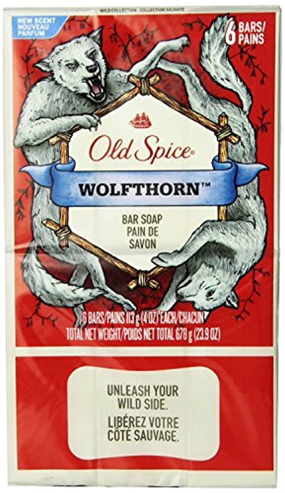 ダウンアフリカ人盗難Old Spice Wild Collection Wolfthorn Men's Bar Soap 12 Count by Old Spice