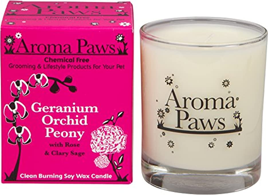 経済的必要ないトロリーバスAroma Paws Candle in Glass with Gift Box, 8-Ounce, Geranium Orchid Sage by Aroma Paws