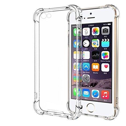 RoiCiel iPhone SE/5S/5用ケース透明 クリア ソフトカバー 衝撃吸収 高品質TPU シリコン 落下防止 防指紋 ...