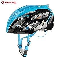 ( ESSEN SPORT-C007)自転車ヘルメットサイクリング ヘルメット男女兼用  スポーツ ヘルメット ジュニアヘルメット マウンテンバイク クロスバイク 通気 安全 スタイリッシュ WU088[ブラック/FreeSize]