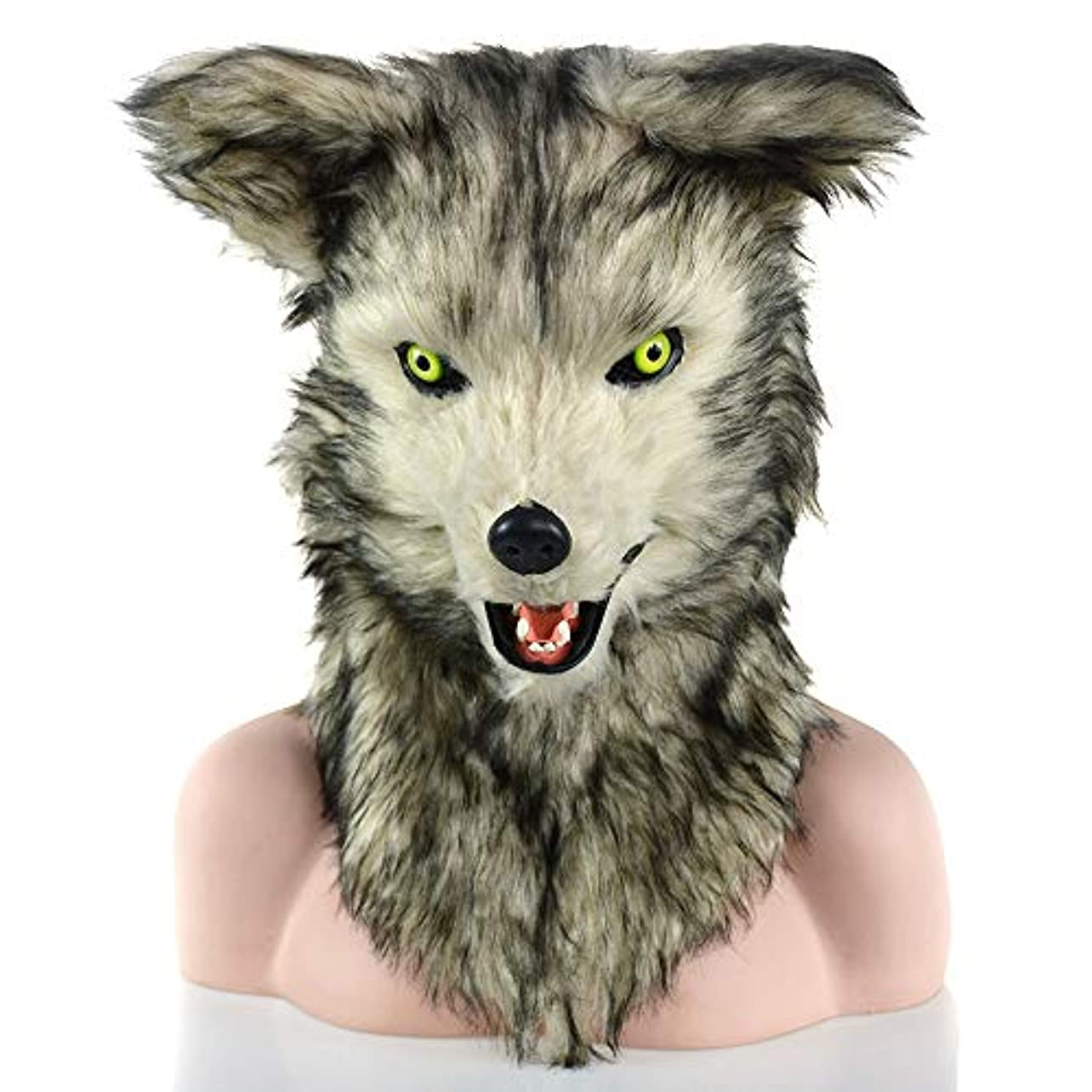 立方体においむしゃむしゃETH あなたの口ジャッカルがハロウィン用品ぬいぐるみシミュレーション動物デコレーションドレス帽子マスク移動します 適用されます