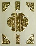 伊勢 - 宮忠 - 扉金具 プレス製 八双9枚打 1寸5分