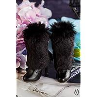 ASDOLL bjd靴 ドールシューズ bjdドール専用 3分ブラック綿毛ブーツ 球体関節人形 人形用靴