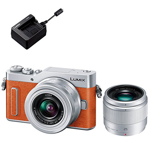 Panasonic ミラーレス一眼カメラ ルミックス GF90 ダブルレンズキット オレンジ DC-GF90W-D + バッテリーチャージャー DMW-BTC12 セット