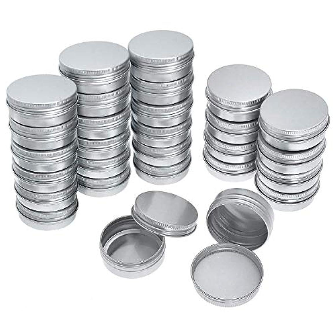 結び目フォーマットガラスRETYLY 40パック ネジトップ ラウンド アルミ缶 - アルミネジふた ラウンド錫コンテナボトル