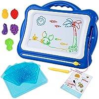 ifixer磁気図面ボード、16.5 X 13.2インチ消去可能カラフルなMagna Doodle Toys手書きスケッチパッド、Set with 5スタンプ6スケッチボードとアルバムの男の子と女の子3 +、ブルー