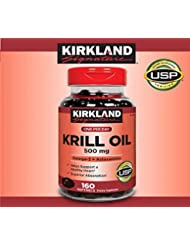 KIRKLAND カークランド, KRILL OIL クリルオイル 160 Softgels [並行輸入品]