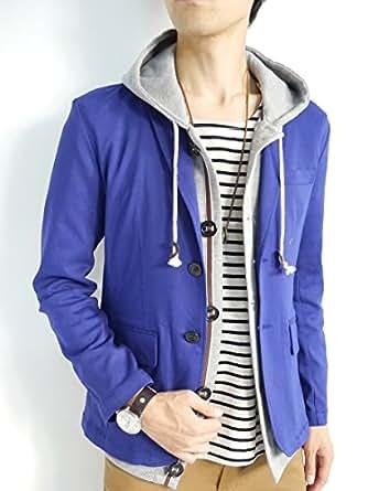 (モノマート) MONO-MART スーパーストレッチ テーラードジャケット 春 スプリング ジャケット メンズ ブルー Mサイズ