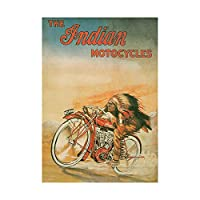 Ad Indian Motorcycles Bike Red Chief Picture Wall Art Print インド人オートバイ自転車画像壁