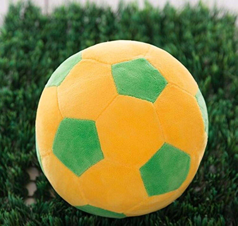 Dalino ソフトぬいぐるみ ソフト シミュレーション 22cm フットボール ぬいぐるみ おもちゃ 人形 子供 ギフト (イエロー グリーン カラー)