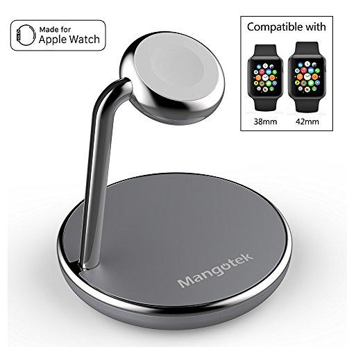 Apple Watch charger アップルウォッチ 充電器 スタンド式 Apple Watch専用ワイヤレス磁気充電器 USB充電器 アップルウォッチとスマホ 同時充電可能38mm/42mm対応[MFi認証] (RST18M)