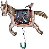 Allen Designs Studios アレンデザイン 振り子時計 掛け時計 馬 馬術 ホースP1602 [並行輸入品]
