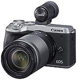 Canon キヤノン ミラーレス一眼  EOSM6 mark2 18-150 IS STM レンズEVFキット シルバー