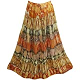 Grace Womens Maxi Skirt Flared Hippie Gypsy Tye-Dye Retro Boho Summer Skirts S/M
