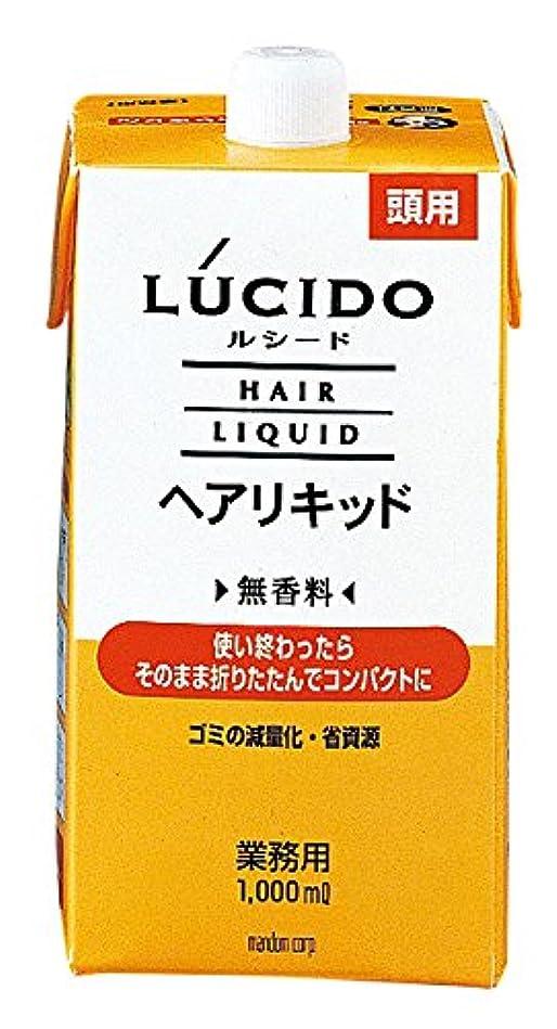 粘り強い文言上流のマンダム LUCIDO(ルシード) ヘアリキッド 1000ml