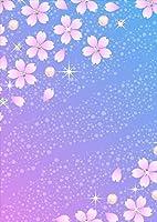 ポスター ウォールステッカー シール式ステッカー 飾り 89×127㎜ L版 写真 フォト 壁 インテリア おしゃれ  剥がせる wall sticker poster フラワー 桜 花 キラキラ 005359