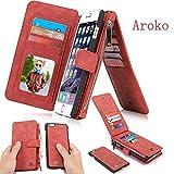 Best Aroko iPhoneのカバーで6ケース - Aroko Iphone 6Plus財布型ケース、ハンドメイド本牛革レザー財布型カバーケース、本革6plusケースカバージッパー財布カード多機能Iphone 6Plus / 6s Plusケース iphone6plus/iphone6sPlus Review
