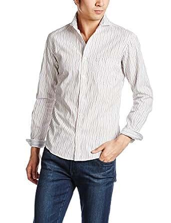 (シップス) SHIPS SC: SHIPS(シップス) ヨロケ ストライプ セミワイドカラーシャツ 111100106 99 One-Color L