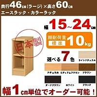 オーダー本棚 カラーラック【幅18cm,奥46cm,高60cm,ホワイト,標準】