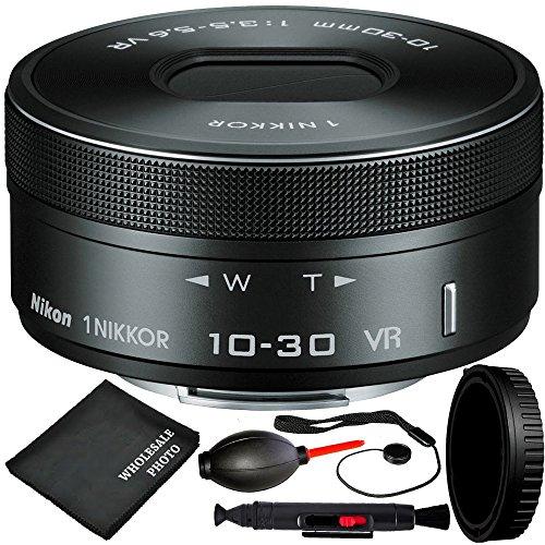Nikon 1NIKKOR VR 10–30mm f / 3.5–5.6pd-zoomレンズ(ホワイトボックス) 5pc Accessoryバンドルfor Nikon 1j1、j2、j3、j4, j5、s1、s2、v1、v2、v3