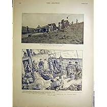 船酔いの海峡連絡船の牽引車銃 1900 年のアフリカ