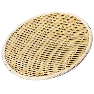 小柳産業 竹製盆ザル (国産) 上仕上げ φ33cm 30005