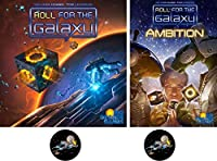 Roll for the Galaxy Bundle of Base Game and Ambition Expansion plus 2 Star Fighter Buttons