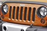 Jeep 07y~ JK ラングラー メッシュグリルインサート/ブラック Rugged Ridge