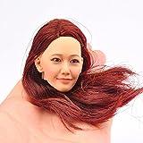 ヘッド KM005 パーツ 1/6 素体用 アクセサリ アクションフィギュア ガール 女性 頭 スカルプト塗装