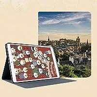 印刷者iPad Mini ケース クリア iPad Mini2 ケース レザー PU iPad Mini3 ケース 軽量 スタンド機能 傷つけ防止 オートスリープ ハード二つ折 歴史的建造物のエジンバラ町空撮遺産パノラマアート