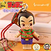 キュージョン『ローズオニールキューピー×少年サンデー《プロゴルファー猿》』携帯ストラップ