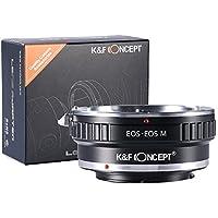 K&F Concept マウントアダプター 一眼レフカメラ 「EOS-EOS M」 キヤノンEFマウントレンズ x キヤノンEOS EF-Mマウントボディ 【国内正規品】