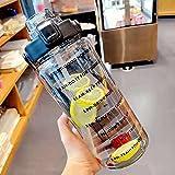 TSQIBU ボトル 水筒 2L 大容量 ポータブルストロースポーツウォーターボトル BPAフリー プラスチックウォーターボトル 大人 子ども アウトドア スポーツ 登山用 キャンプ ランニング ジム ハイキング 自転車 (2L,black)