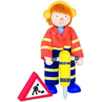 Goki柔軟なPuppet Construction Worker Ii人形