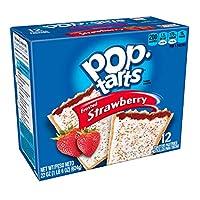 ケロッグのポップタルトトースターペストリーイチゴ-12ct をつや消し。 Kellogg's Pop-Tarts Toaster Pastries Frosted Strawberry - 12ct.