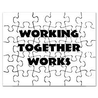 CafePress–チームワークインスピレーション–ジグソーパズル、30個。