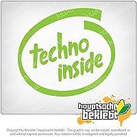 テクノ内部 Techno inside 10cm x 11cm 15色 - ネオン+クロム! ステッカービニールオートバイ