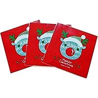 Doitsa 100個 ビニール袋 ギフトバッグ ポリ袋 自己接着 トナカイ キャンディ ビスケット クッキー お菓子 パッケージバッグ クリスマス ギフト プレゼント