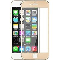 Anskp iPhoneX/7/7plus/8/8 plus 対応 iPhone7フィルム3D強化ガラスフィルム 全面フルカバー アイホン8 plus用フィルム iPhone7plus 高透過率 自動吸着 硬度9H 飛散防止 iPhoneX/7/7plus/8/8 plus 対応 (iphone7 plus, ゴールド)