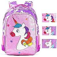 Magic Reversible Sequin School Bag, Lightweight Pre-School Backpack for for Kindergarten or Elementary