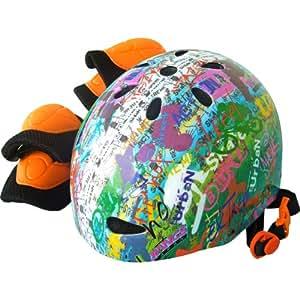 ラングスジャパン(RANGS) ラングスジュニアスポーツヘルメット レインボー