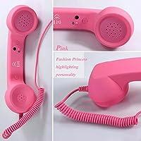 Mobeka 外部マイクロフォン電話シンプルで古代ヨーロッパのアメリカの電話機アメリカンリング、機械的なリングクリエイティブファッション (色 : ピンク ぴんく)