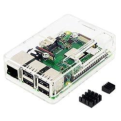 Raspberry Pi3 Model B+ ボード&ケースセット 3ple Decker対応-Physical Computing Lab (Economy, Clear)