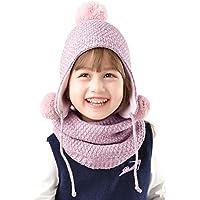 FURTALK Baby Toddler Kids Winter Hat Scarf Set Beanie Knit Earflap Hat for Boy Girl (Aged 1-5)